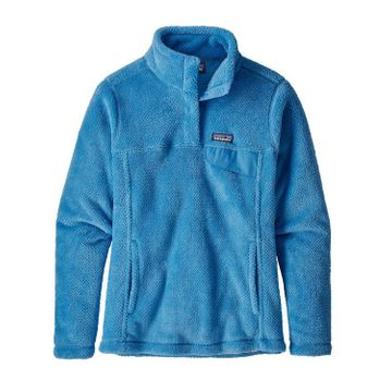 Patagonia Womens Re-Tool Snap-T Fleece Pullover Port Blue/ Break Up Blue X-Dye