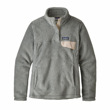 Patagonia Womens Re-Tool Snap-T Pullover Tailored Grey/ Nickel X-Dye w/ Clacium