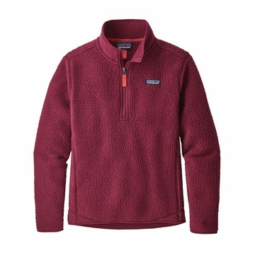 Patagonia Womens Retro Pile 1/4 Zip Arrow Red