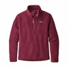 Patagonia Womens Retro Pile 1/4 Zip Arrow Red  (close out)