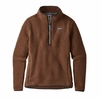 Patagonia Womens Retro Pile 1/4 Zip Moccasin Brown