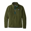 Patagonia Womens Retro Pile 1/4 Zip Nomad Green