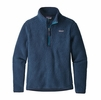 Patagonia Womens Retro Pile 1/4 Zip Stone Blue
