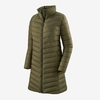 Patagonia Womens Silent Down Parka Basin Green (Close Out)