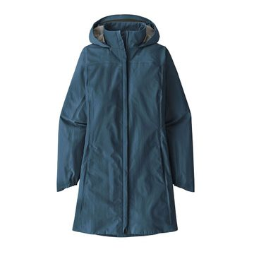 Patagonia Womens Torrentshell 3L City Coat Stone Blue