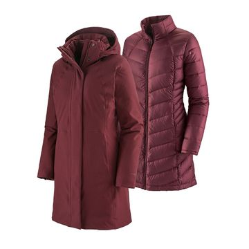 Patagonia Womens Tres 3-in-1 Parka Chicory Red (Close Out)