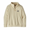 Patagonia Womens Woolie Fleece Pullover Oyster White (Close Out)