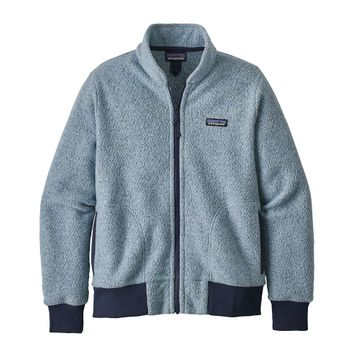 Patagonia Womens Woolyester Fleece Jacket Big Sky Blue (Close Out)