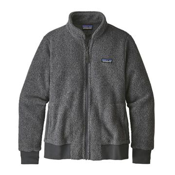 Patagonia Womens Woolyester Fleece Jacket Forge Grey