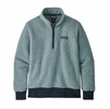 Patagonia Womens Woolyester Fleece Pullover Big Sky Blue (Close Out)