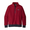 Patagonia Womens Woolyester Fleece Pullover Molten Lava (Close Out)