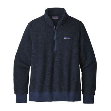 Patagonia Womens Woolyester Fleece Pullover Navy Blue