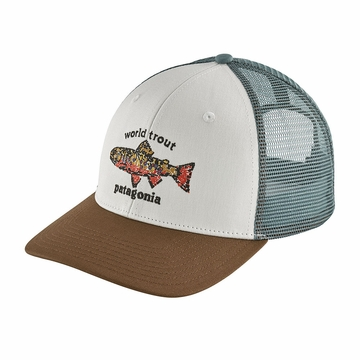 Patagonia World Trout Brook Fishtich Trucket Hat White