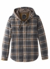 Prana Mens Bolster Hooded Flannel Coal