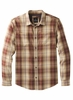 Prana Mens Holton Plaid Long Sleeve Mulled Wine