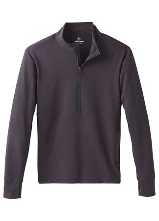 Prana Mens Jarvis 1/2 Zip Charcoal (Close Out)