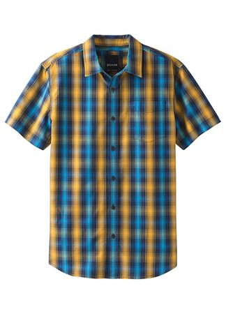 Prana Mens Mick Shirt Blue Anchor (Close Out)