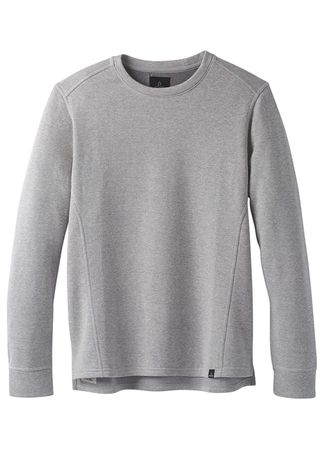 Prana Mens Norcross Crew Heather Grey (Close Out)