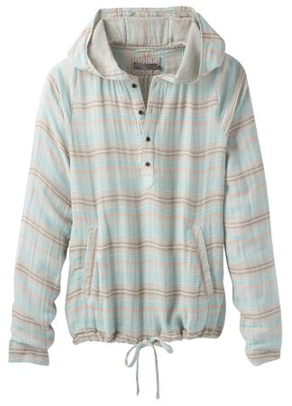 Prana Womens Baja Popover Iced Aqua (Close Out)