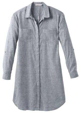 Prana Womens La Noa Dress Chambray (Close Out)