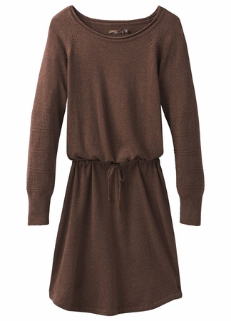 Prana Womens Leigh Dress Wedged Wood Heather (Close Out)