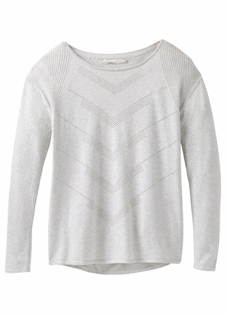 Prana Womens Mainspring Sweater Bone Heather (Close Out)