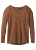 Prana Womens Mainspring Sweater Burnt Caramel Heather