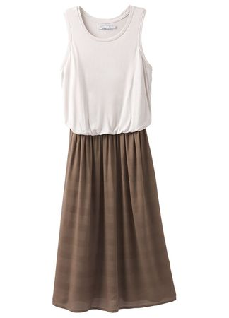 Prana Womens Perry Midi Dress Mud