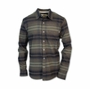 Purnell Mens Striped Flannel Brown