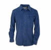 Purnell Mens Washed Corduroy Shirt Blue