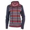 Purnell Womens Fair Isle Cowl Neck Sweater Red