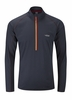 Rab Mens Interval Long Sleeve Zip Tee Ebony