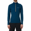 Rab Mens Interval Long Sleeve Zip Tee Ink (Close Out)