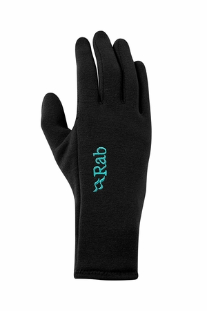 Rab Womens Power Stretch Contact Grip Glove Black (Close Out)