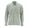 Simms Mens Bugstopper Shirt Kelp Plaid