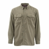 Simms Mens Coldweather Long Sleeve Shirt Dark Stone