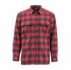 Simms Mens Coldweather Long Sleeve Shirt Red Buffalo Plaid