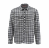 Simms Mens Guide Flannel Long Sleeve Shirt Steel Plaid
