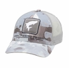 Simms Trapon Icon Trucker Hat Cloud Camo Grey