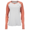 Simms Womens SolarFlex Long Sleeve Crewneck Sterling Salmon Heather
