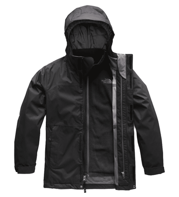 The North Face Boys Vortex Triclimate Jacket TNF Black/ Graphite Grey (Close Out)