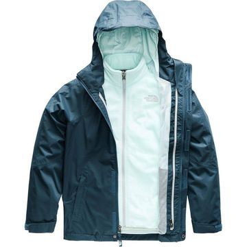The North Face Girls Mt View Triclimate Jacket Blue Wing Teal (Close Out)