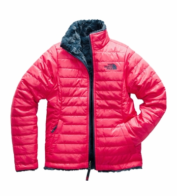 The North Face Girls Reversible Mossbud Swirl Jacket Atom Pink (Close Out)