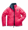 The North Face Girls Reversible Mossbud Swirl Jacket Atom Pink