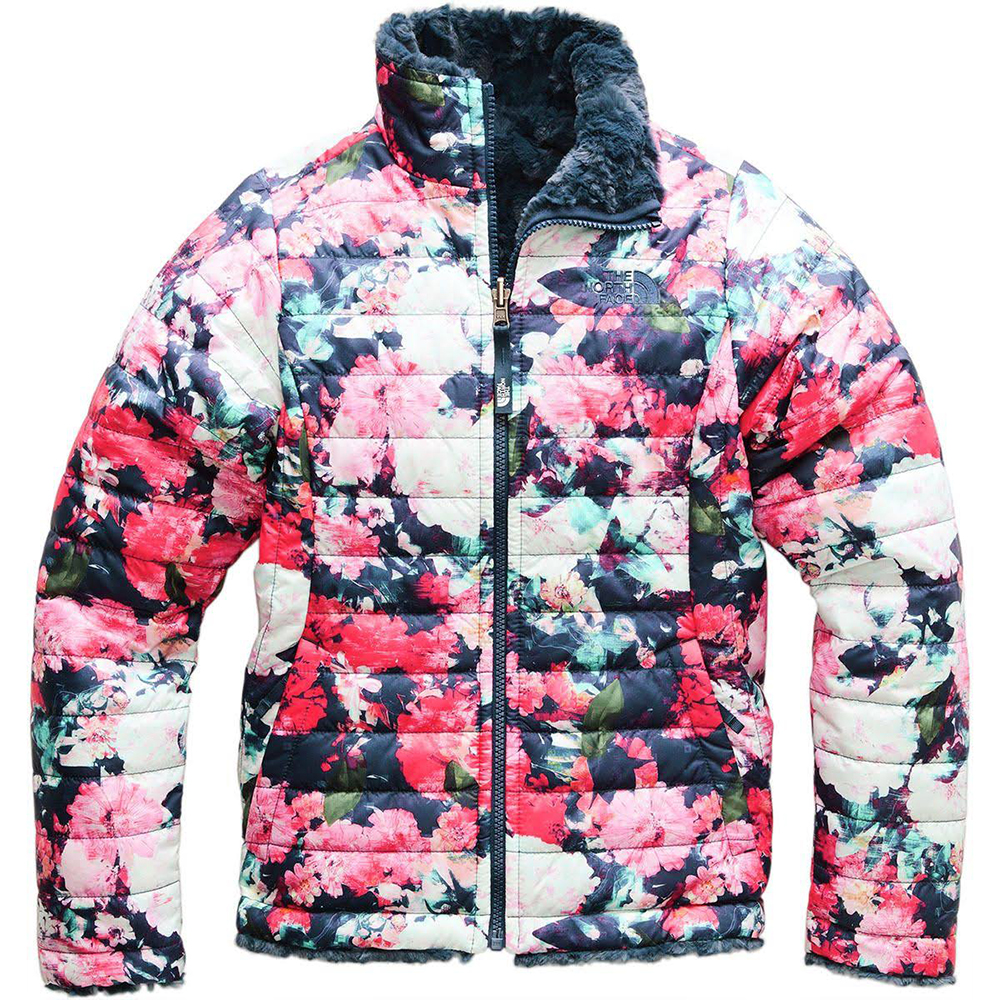 6c6f0adb6 The North Face Girls Reversible Mossbud Swirl Jacket Atomic Pink Digi  Floral Print (Close Out)