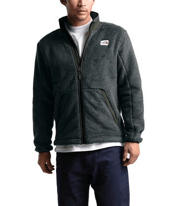The North Face Mens Campshire Full Zip Asphalt Grey/New Taupe Green (Close Out)
