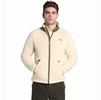 The North Face Mens Campshire Full Zip Bleached Sand/ Burnt Olive Green