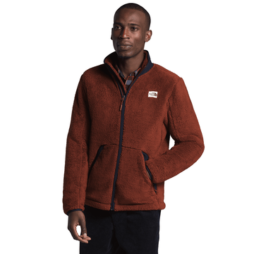 The North Face Mens Campshire Full Zip Brandy Brown/ Aviator Navy (Close Out)