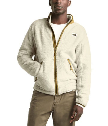 The North Face Mens Campshire Full Zip Vintage White/British Khaki (Close Out)