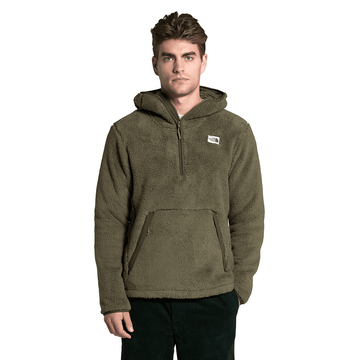 The North Face Mens Campshire Pullover Hoodie Burnt Olive Green/ New Taupe Green (Close Out)